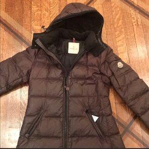 Brown Moncler Down Jacket Size 2